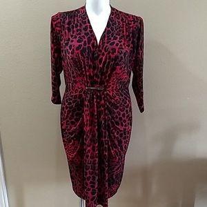 Lane Bryant 3/4 sleeve Animal Print Dress